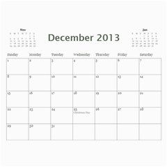 Calendar   Classic By Angel   Wall Calendar 11  X 8 5  (12 Months)   Yuc8mloizhce   Www Artscow Com Dec 2013