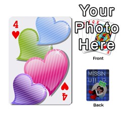 Tzip Cards By Esti Kaufman   Playing Cards 54 Designs   Qovyzxgs84og   Www Artscow Com Front - Heart4