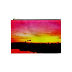 Pink Sunset Medium Makeup Purse by tammystotesandtreasures
