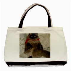 Bandit Cat Black Tote Bag