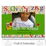 Calendar: Back to School (ANY YEAR) - Wall Calendar 11 x 8.5 (12-Months)