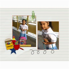 Calendar: Back To School (any Year) By Jennyl   Wall Calendar 11  X 8 5  (12 Months)   Rimrk82719am   Www Artscow Com Month