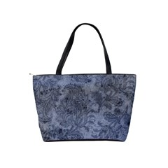 Weathered Blue Paisley Leaves Shoulder Bag By Bags n Brellas   Classic Shoulder Handbag   Pkvul58jw3ek   Www Artscow Com Back