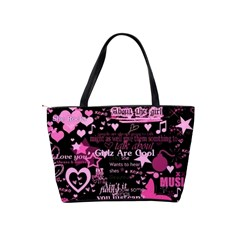 Pinkpunk Shoulder Bag By Bags n Brellas   Classic Shoulder Handbag   Te2ams4w6q7l   Www Artscow Com Back