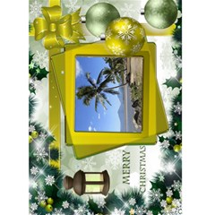Christmas Greeting 5x7 Card (yellow) By Deborah   Greeting Card 5  X 7    Sfcdoga5f8y4   Www Artscow Com Front Cover