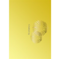 New Year Greeting 5x7 Card (yellow) By Deborah   Greeting Card 5  X 7    Leaqeo9xrl91   Www Artscow Com Back Cover
