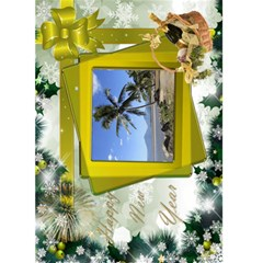New Year Greeting 5x7 Card (yellow) By Deborah   Greeting Card 5  X 7    Leaqeo9xrl91   Www Artscow Com Front Cover