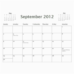 2012 Calendar Friends By Rose   Wall Calendar 11  X 8 5  (12 Months)   0pqfr70frq3f   Www Artscow Com Sep 2012