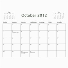 2012 Calendar Friends By Rose   Wall Calendar 11  X 8 5  (12 Months)   0pqfr70frq3f   Www Artscow Com Oct 2012