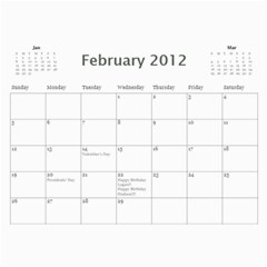 2012 Calendar Friends By Rose   Wall Calendar 11  X 8 5  (12 Months)   0pqfr70frq3f   Www Artscow Com Feb 2012