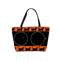 Black Cat Shoulder Bag By Kim Blair   Classic Shoulder Handbag   Kvrdapl9ipp4   Www Artscow Com Back