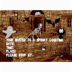 Halloween Party  Invitation By Kim Blair   5  X 7  Photo Cards   7aidqvpyggf3   Www Artscow Com 7 x5  Photo Card - 1