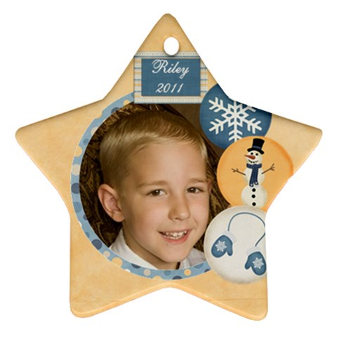 Riley 2011 By Nicole Thompson   Ornament (star)   T5fm8b3z7wap   Www Artscow Com Front