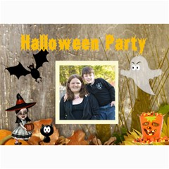 Halloween Party Invitation 2 By Kim Blair   5  X 7  Photo Cards   Ch9m33f39fg2   Www Artscow Com 7 x5 Photo Card - 9