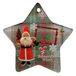Santa Remember when 2011 2 SIDE ornament 23 - Star Ornament (Two Sides)