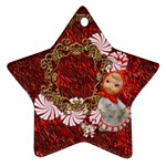 Star candy cane Christmas ornament 2011 2 SIDE ornament - Star Ornament (Two Sides)