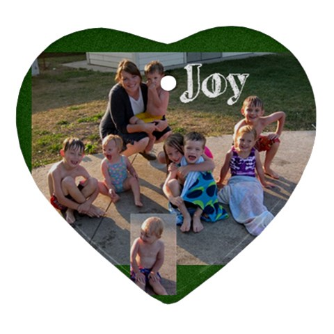Grandpa R Joy Ornament By Julie   Ornament (heart)   Shovct12lfx6   Www Artscow Com Front