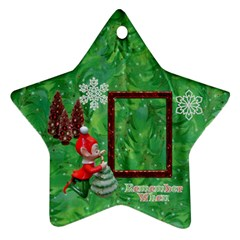 Elf Remember When Christmas Ornament 2011 2 Side By Ellan   Star Ornament (two Sides)   Mgo3526f3jnz   Www Artscow Com Front