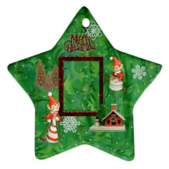 Elf Remember When Christmas Ornament 2011 2 Side By Ellan   Star Ornament (two Sides)   Mgo3526f3jnz   Www Artscow Com Back