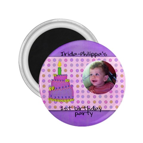 irida birthday magnet medium by marka20300 Front