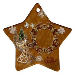 Gold Angel 2011 Christmas Ornament 2 Side By Ellan   Star Ornament (two Sides)   08savjxetsv0   Www Artscow Com Front