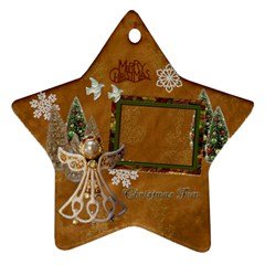 Gold Angel 2011 Christmas Ornament 2 Side By Ellan   Star Ornament (two Sides)   08savjxetsv0   Www Artscow Com Back