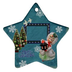 Lantern Girl 2011 Christmas Ornament 2 Side By Ellan   Star Ornament (two Sides)   Tmld83xtbvgd   Www Artscow Com Front