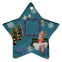 Lantern Girl 2011 Christmas Ornament 2 Side By Ellan   Star Ornament (two Sides)   Tmld83xtbvgd   Www Artscow Com Back