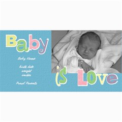 Baby Boy Photo Card By Lana Laflen   4  X 8  Photo Cards   9iblrag7dtf6   Www Artscow Com 8 x4 Photo Card - 9