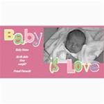 Baby Girl Photo Card - 4  x 8  Photo Cards