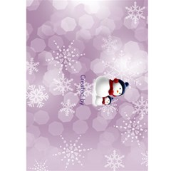 Christmas Greeting 5x7 Card (Purple) by Deborah Back Cover