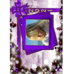 Christmas Greeting 5x7 Card (Purple) by Deborah Front Cover