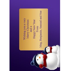 Christmas Greeting 5x7 Card (purple) By Deborah   Greeting Card 5  X 7    Jrt6i7rwjix1   Www Artscow Com Back Inside
