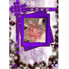 New Year Greeting 5x7 Card (purple) By Deborah   Greeting Card 5  X 7    Lb3w6vvrplbo   Www Artscow Com Front Cover
