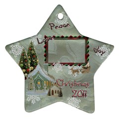 Village Peace Love Joy 2011 Christmas Ornament 2 Side By Ellan   Star Ornament (two Sides)   R5jnaov4xte0   Www Artscow Com Front