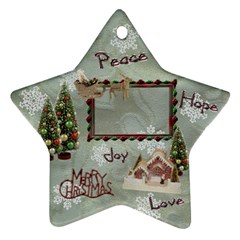 Village Peace Love Joy 2011 Christmas Ornament 2 Side By Ellan   Star Ornament (two Sides)   R5jnaov4xte0   Www Artscow Com Back