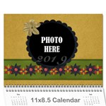 2015 Calendar 1 - Wall Calendar 11  x 8.5  (12-Months)
