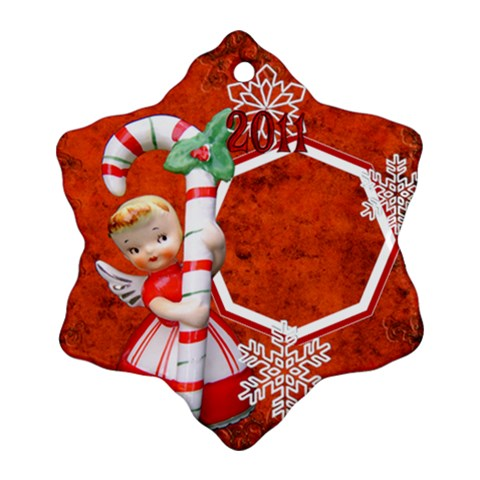 Angel Blonde Snowflake Ornament By Ellan   Ornament (snowflake)   Tejys5so3eep   Www Artscow Com Front