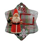 Old Fashioned Santa Remember When Snowflake Ornament - Ornament (Snowflake)