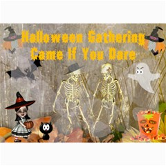 Halloween Party Invitation 4 By Kim Blair   5  X 7  Photo Cards   Bvmfmo6y9uls   Www Artscow Com 7 x5 Photo Card - 4