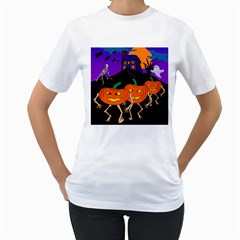Halloween Shirt By Tori Carson   Women s T Shirt (white) (two Sided)   7uyb1wmeiljg   Www Artscow Com Front