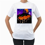 Halloween Shirt - Women s T-Shirt (White) (Two Sided)