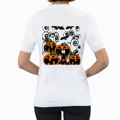 Halloween Shirt By Tori Carson   Women s T Shirt (white) (two Sided)   7uyb1wmeiljg   Www Artscow Com Back