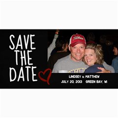 Save The Date Photo Card By Lana Laflen   4  X 8  Photo Cards   M3sc02e6pb2l   Www Artscow Com 8 x4 Photo Card - 1