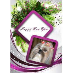 New Year 5x7 Pink And Silver Delight Card By Deborah   Greeting Card 5  X 7    W9ekw4t3yiaa   Www Artscow Com Front Cover