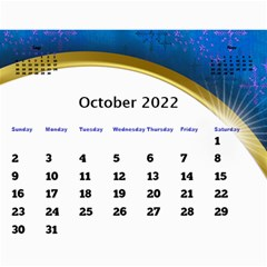 2017 Calendar With Class And Large Numbers By Deborah   Wall Calendar 11  X 8 5  (12 Months)   Jhfnl9v3sdij   Www Artscow Com Oct 2017