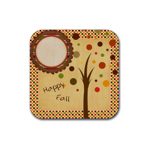 Everlasting Autumn Dots Coaster By Bitsoscrap   Rubber Coaster (square)   Zcncy0a606kh   Www Artscow Com Front