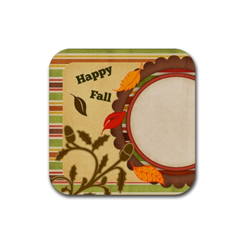 Everlasting Autumn Stripes Coaster By Bitsoscrap   Rubber Coaster (square)   Jrkwh5bw9zrw   Www Artscow Com Front