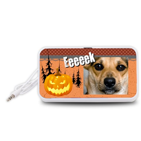 Halloween By Joely   Portable Speaker (white)   Rxkyya96q8el   Www Artscow Com Front
