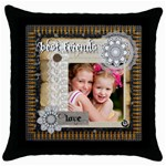 best friends - Throw Pillow Case (Black)
